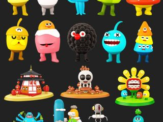 CHARACTERS FOR MONSTERS VILLAGE